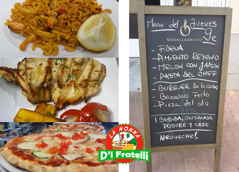 Restaurante con menú cerca de Dénia