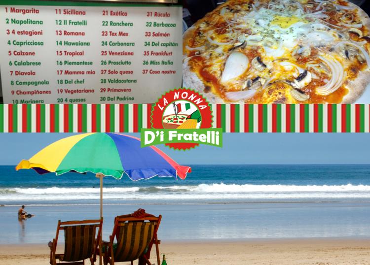 Pizza y playa cerca de El Verger