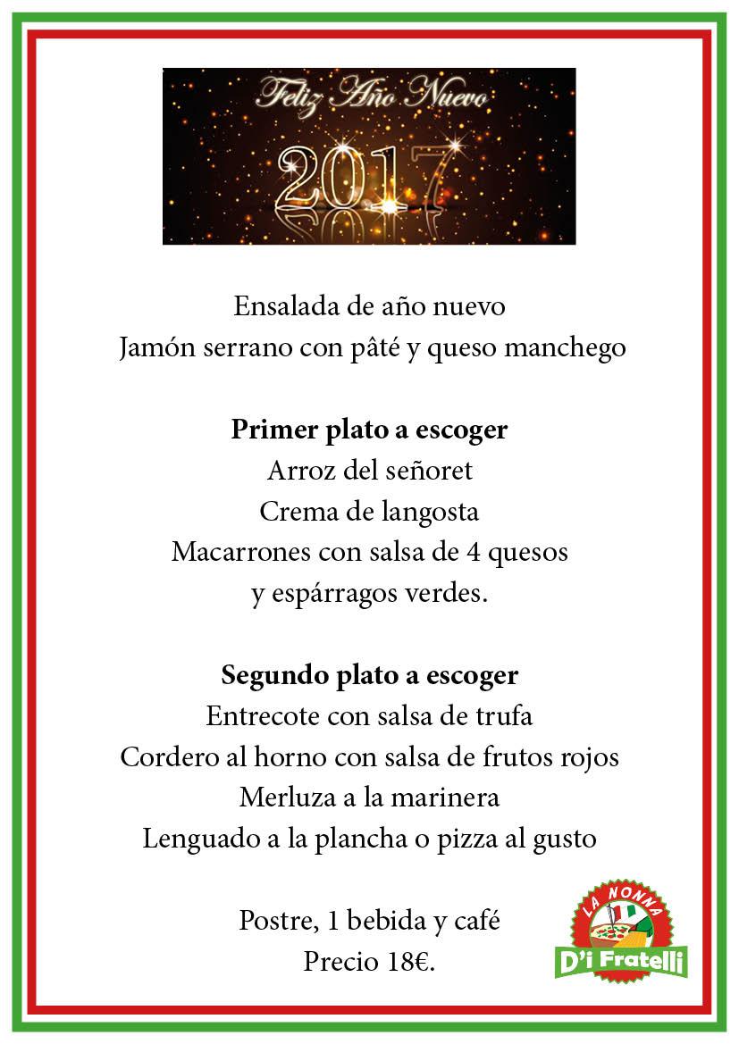 menu nochevieja 2016